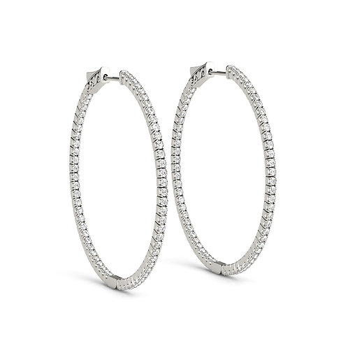 3/4 Inch Round Hoop Earrings