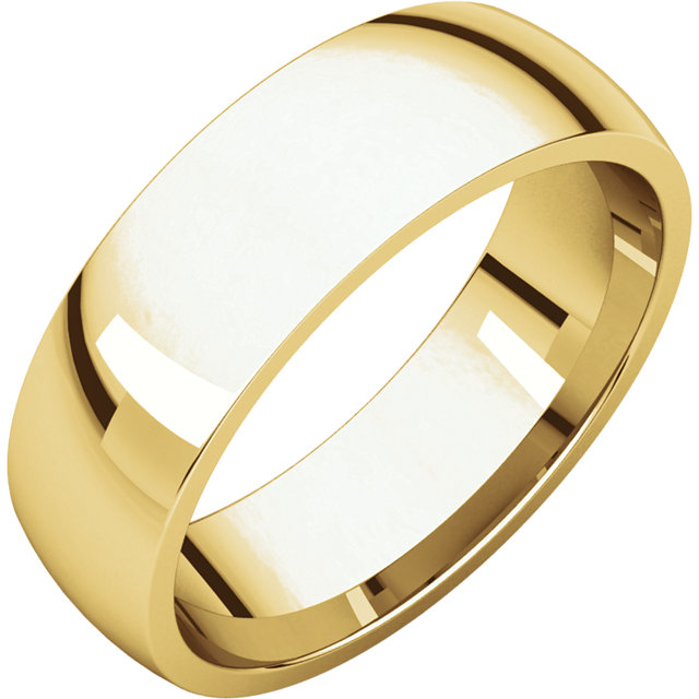Comfort Fit Light Yellow Gold Men's Band