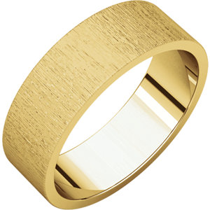 Flat Yellow Gold Band Stone finish