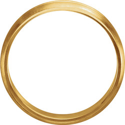 Grooved Yellow Gold Men's Band through view