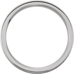 Design Engraved Milgrain White Gold through view - 51327