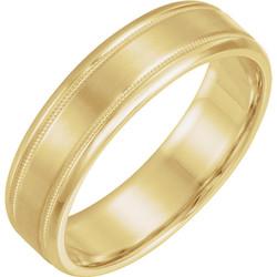 Lightweight Beveled Yellow Gold Men's Band  - 51287