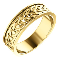 Yellow Gold 7mm Woven Design - 51862
