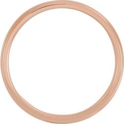 Lightweight Beveled Rose Gold Men's Band through view - 51287