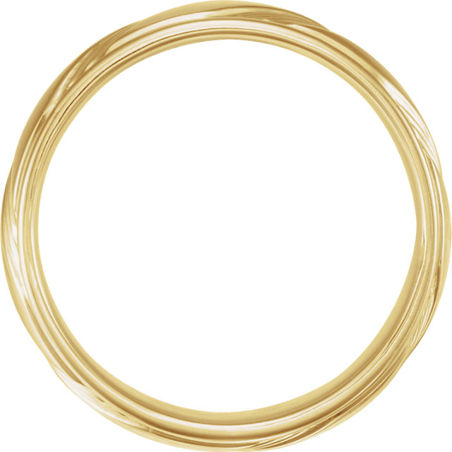 Yellow Gold Fancy 6.5 mm Wedding Band through view - 653070