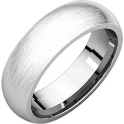 Comfort Fit White Gold Men's Band Brushed finish