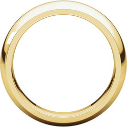 Comfort Fit Yellow Gold Men's Band through view