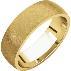 Comfort Fit Light Yellow Gold Men's Band Ice finish