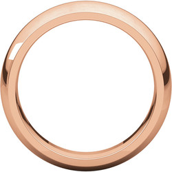 Comfort Fit Rose Gold Men's Band through view