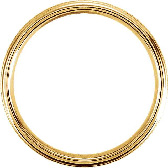 Fancy Carved Yellow Gold Men's Band through view - 51184