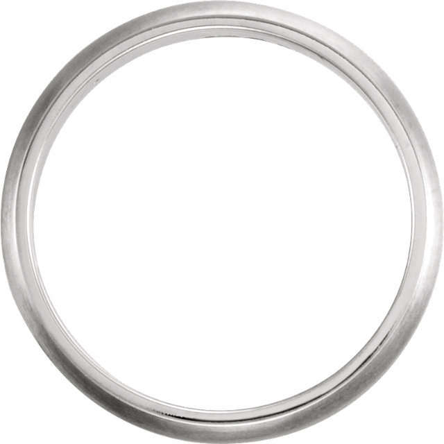 Grooved White Gold Men's Band through view