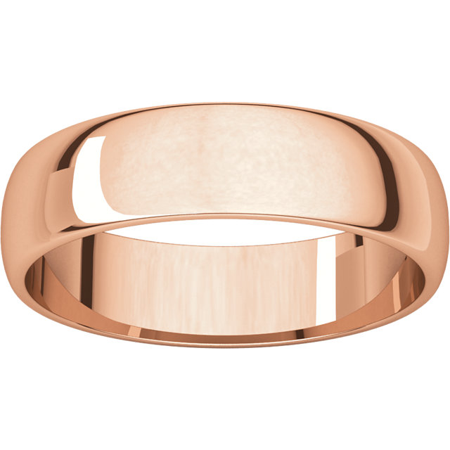 Half Round Light Men's Band Rose Gold alternate view