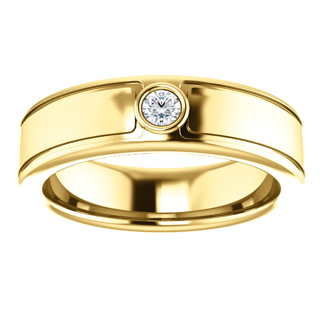 Solitaire 3mm Round Diamond .10 CTW Yellow Gold alternate view - 123478