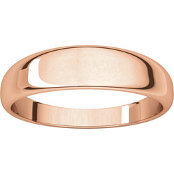 Half Round Tapered Rose Gold alternate view