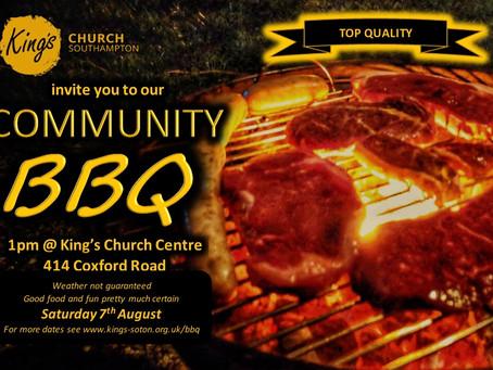 Community BBQ on Saturday 7th August