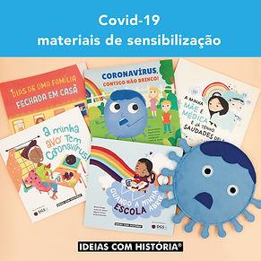 Materiais de sensibilização para a covid-19