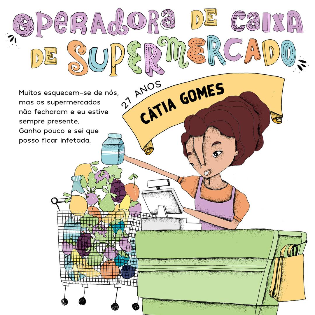 Operadora de caixa de supermercado
