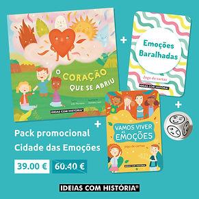 Pack promocional Cidade das Emoções