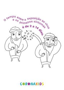Dicas CoronaKids - Periodo de incubacao.