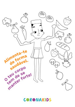 Dicas CoronaKids - Alimentacao saudavel.