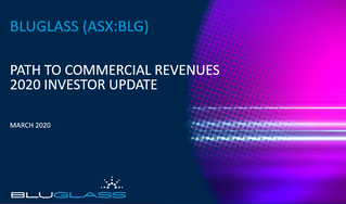 INVESTOR UPDATE - PATH TO COMMERCIAL REVENUE