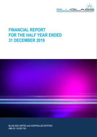 INTERIM FINANCIAL REPORT FOR THE HY 31 DEC 2019