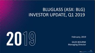 INVESTOR PRESENTATION UPDATE - Q1 2019