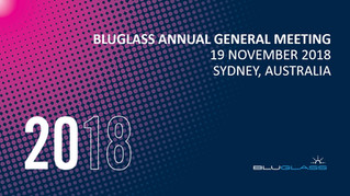 BLUGLASS PRESENTS ITS 2018 AGM