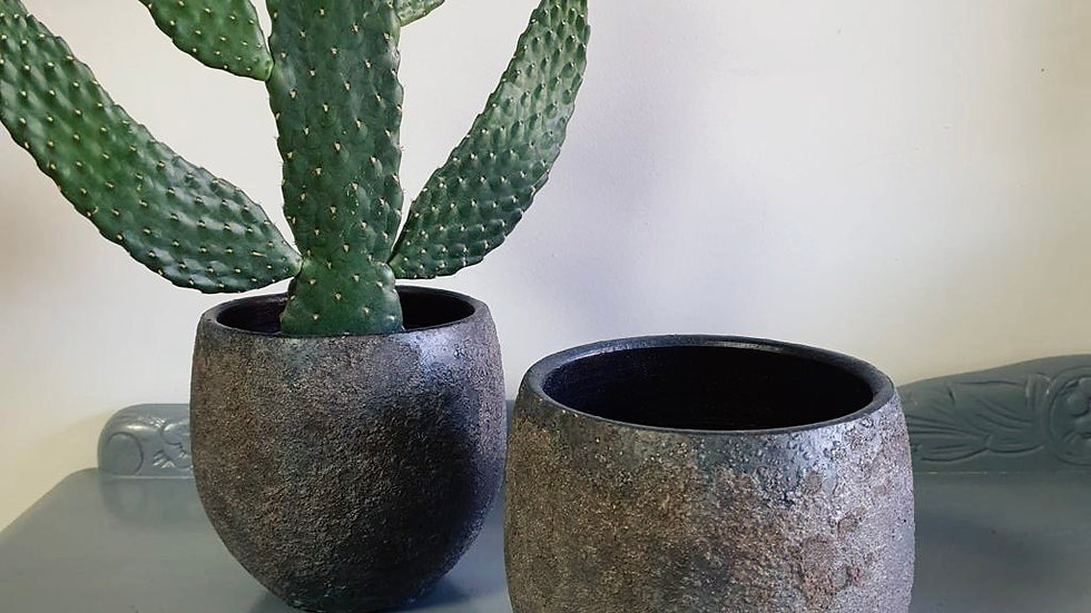 Bali Indonesian Grey Pot