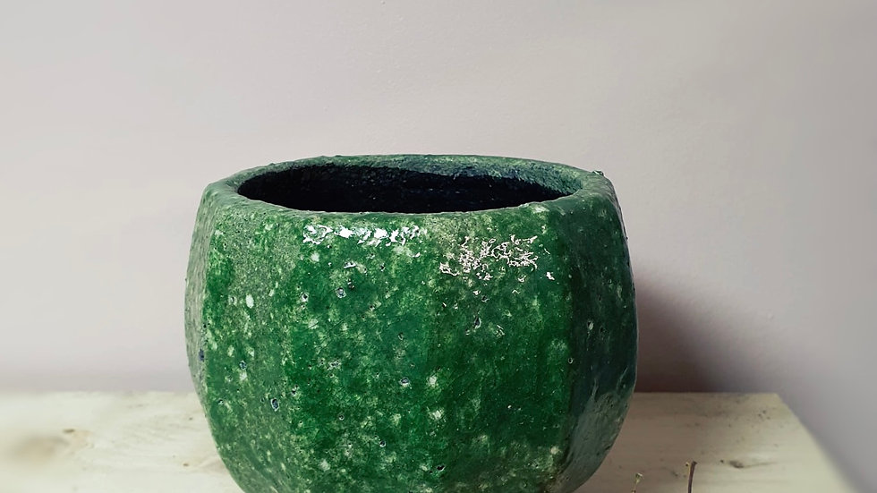 Green Provencal Planter Pot