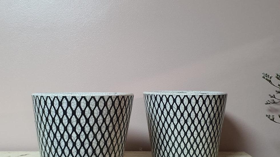Old Tile Dutch Pot - Black