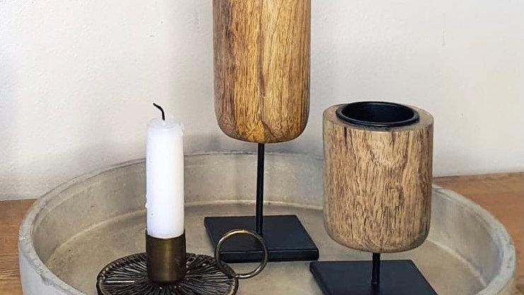 Mango Wood Tea Light Holder