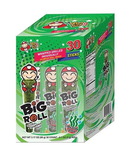 Big Roll Grilled Seaweed Classic 30- 3.17 oz (90g- 3g X 30pcs)