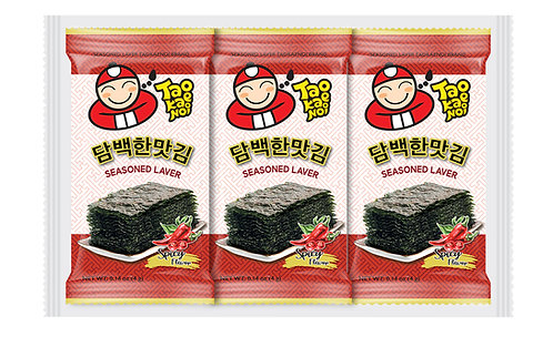 Roasted Seaweed  4g x 3 pcs- Spicy Flavor