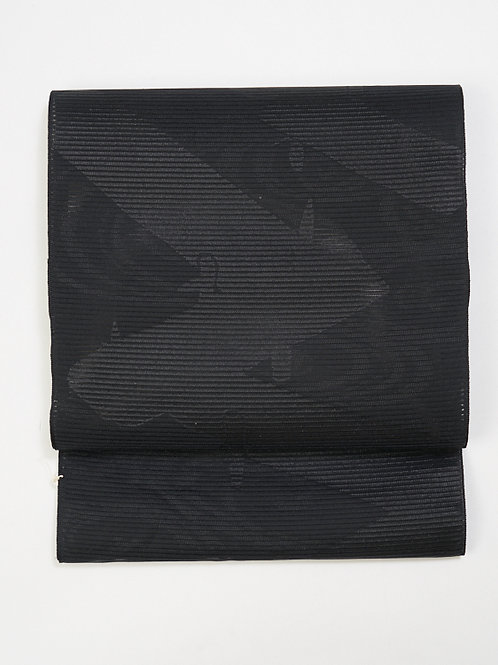 洗える絽黒名古屋帯-07 売り切れ