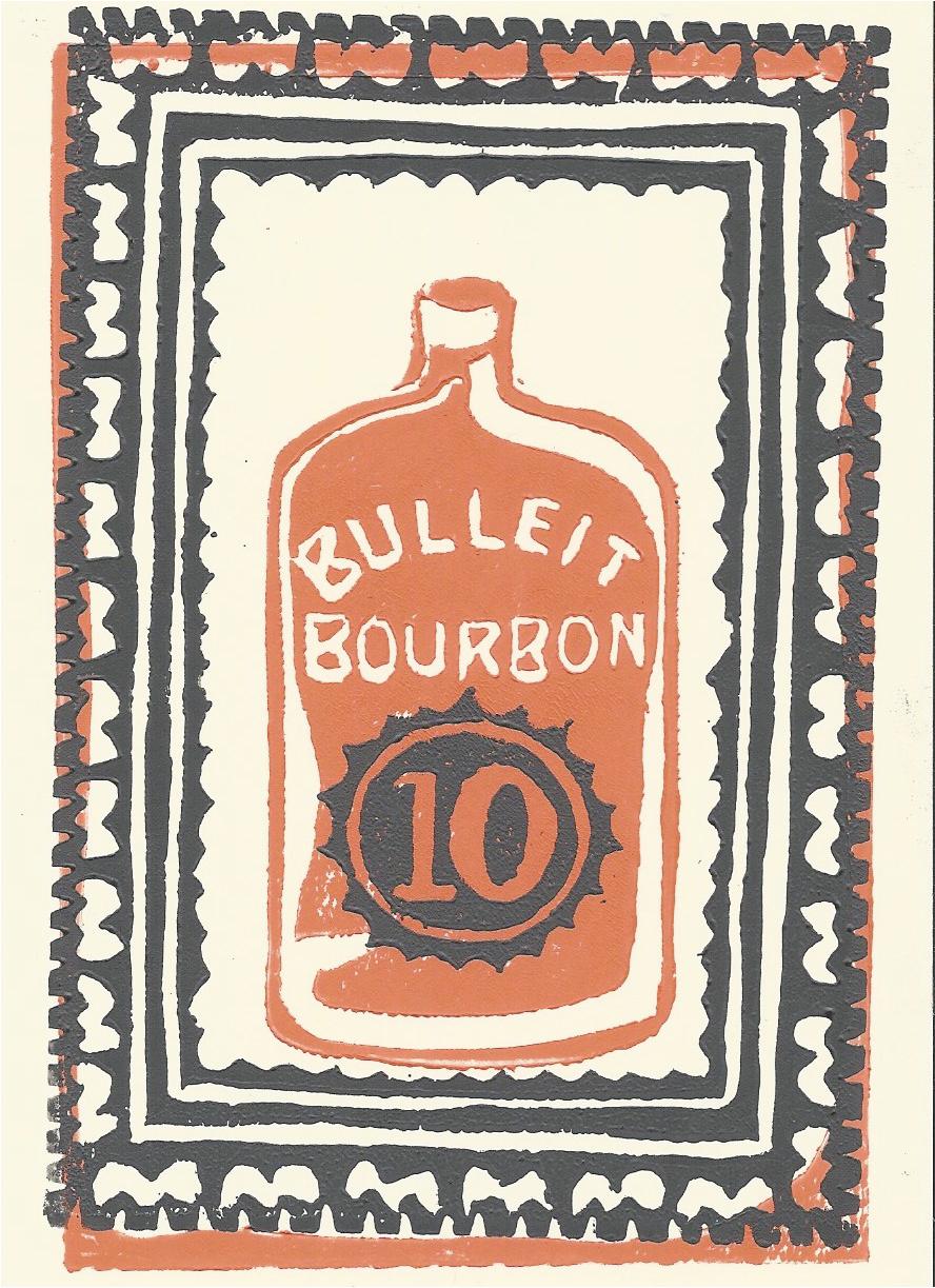 Bulleit 10 Year commemorative print