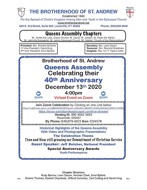 BSA Queens Assembly 40th   Anniversary F