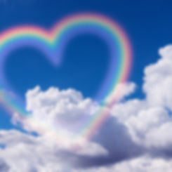 Heart shape rainbow in the sky..jpg
