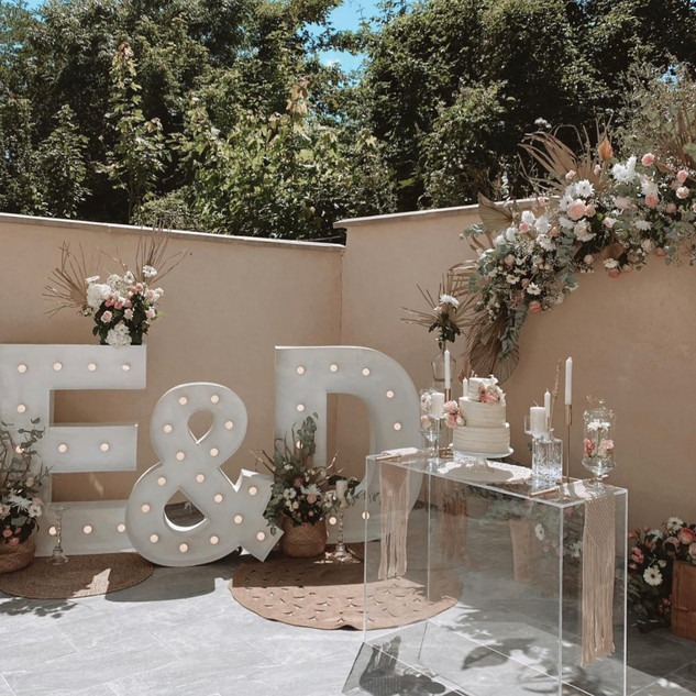 Initiales E&D mariage