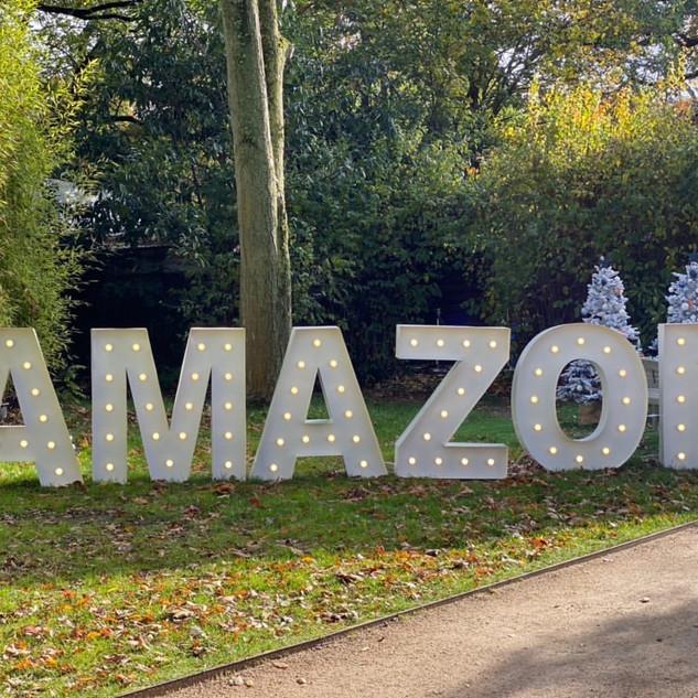 Lettres lumineuses géantes AMAZON