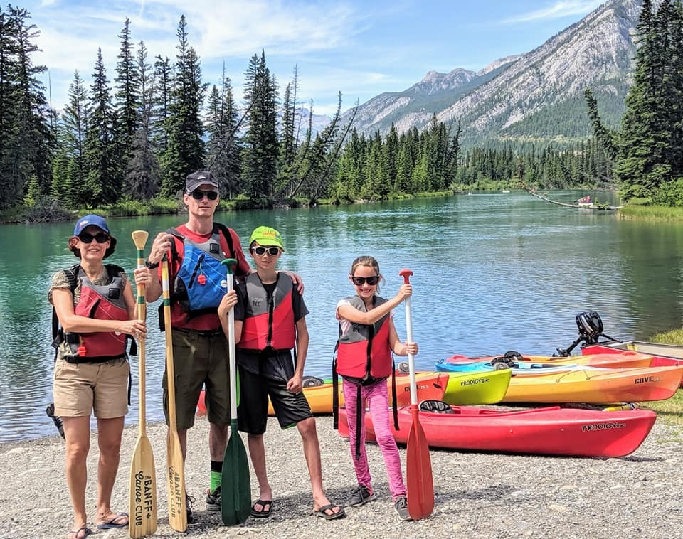 Dana Berenson and her family visiting the Canadian Rockies