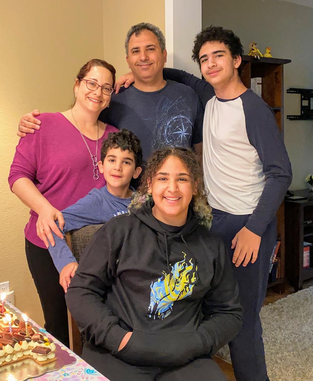 Maya Chen and her family