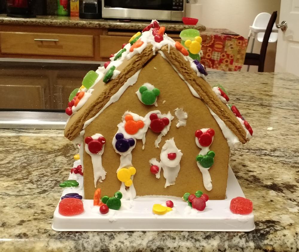 Gingerbread House that kids built