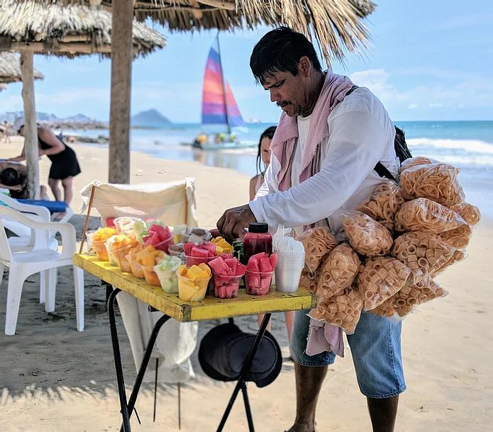 Puerto Vallarta Mexico, men selling fruit