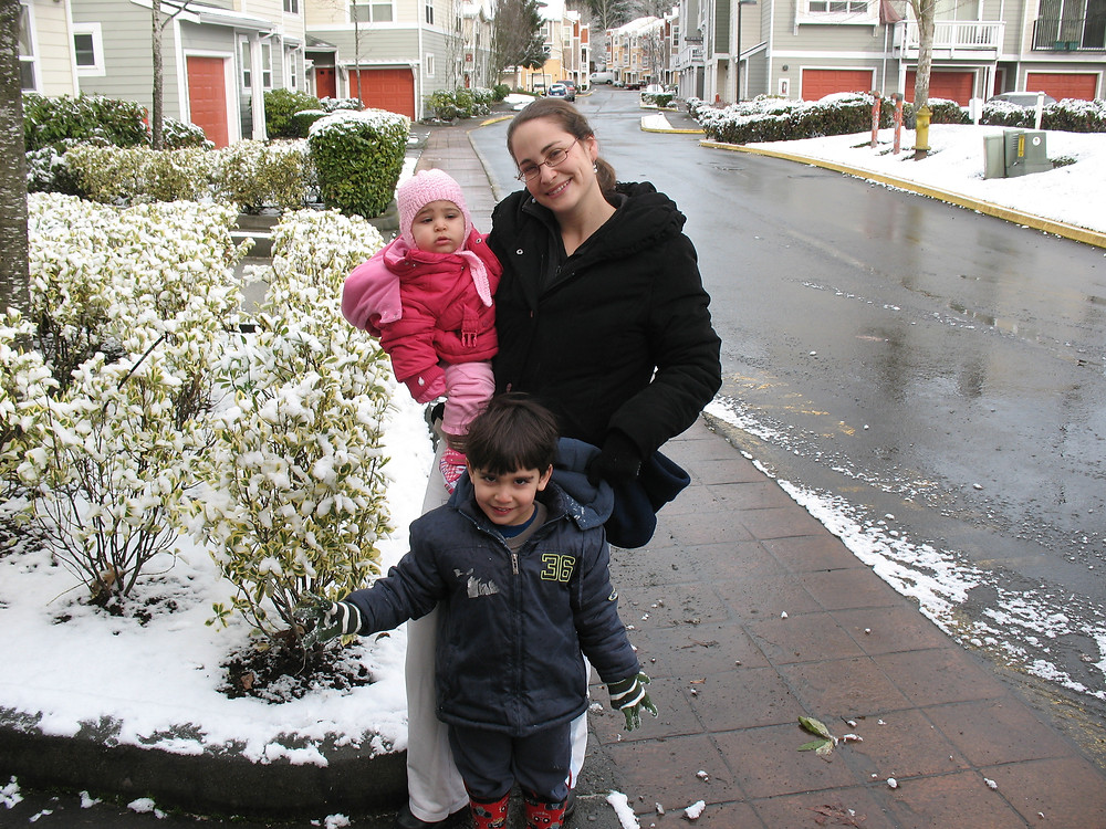 השלג הראשון שלנו בסיאטל