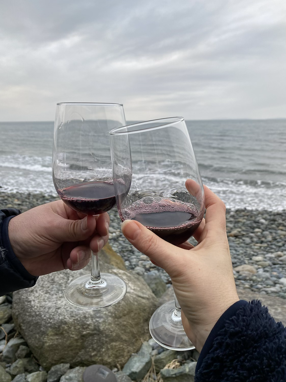 Raising a toast at Whidbey Island house