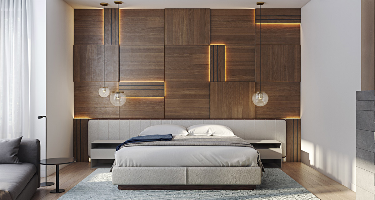 LED-lit-oblongs-bedroom-paneling-for-walls