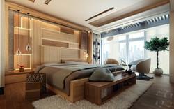 contemporary-bedroom-plank-wall
