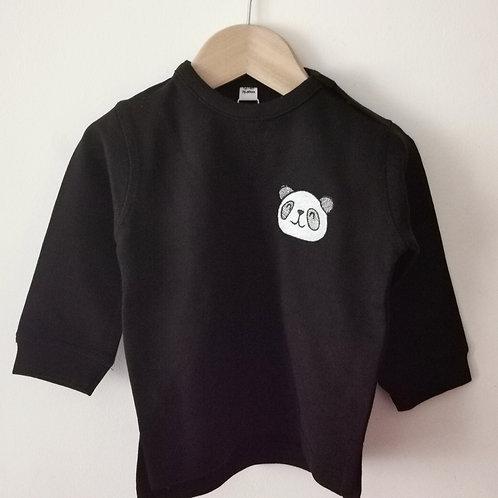 Black Little Panda Sweatshirt