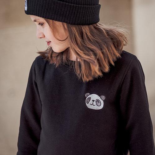 Black Panda Sweatshirt - Kids
